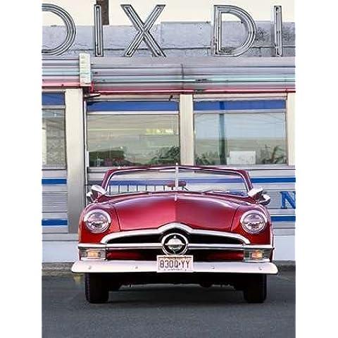 Feeling at home impresión x marco marco, fine art print 1950 convertible cena no 123 x 92 cm