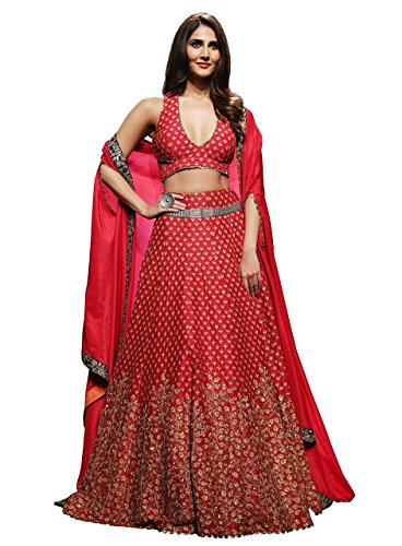 Swara Fashion Women's Banglori Silk With Blouse Piece Lehenga Choli(SFP-561_Red)