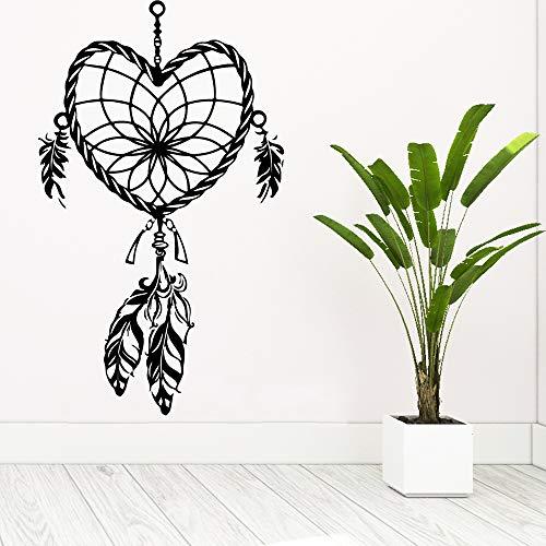 Bfmbch adesivi murali con motivi a forma di cuore 3d adesivi artistici soggiorno decorazioni per la camera dei bambini adesivi murali arte murale camera da letto marrone m 28 cm x 47 cm