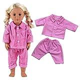 VILLAVIVI Sets Schlafanzug Puppenkleidung Kleid Hemd Hose für 45-46cm Puppen 18 Inch Zoll American...