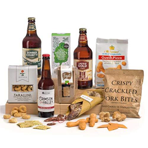 Gentleman's Ale & Bar Snacks Hamper Box Gift - FREE UK Delivery