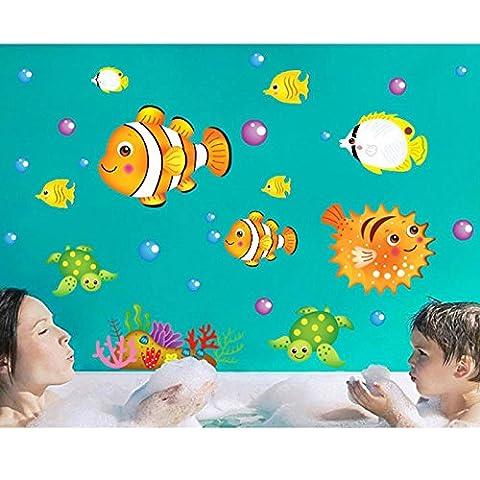 Poissons Tortues de mer Maison Maison PVC autocollant mural décoration
