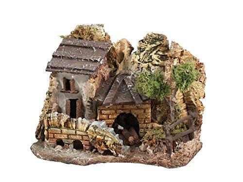 Bertoni plastered house con woodshet, legno, taglia unica