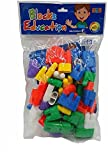 #4: SuperToy(TM) Plastic Learning Building Blocks Toys Kid Puzzle Assembling Block Educational Building Bricks Toy