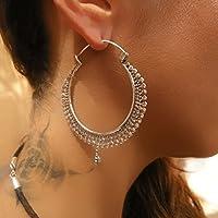orecchini d'argento - cerchi argento orecchini - orecchini gitani - orecchini tribali - orecchini etnici - orecchini indiani - orecchini di dichiarazione - grandi orecchini - gioielli d'argento - gioielli tribali - grandi cerchi