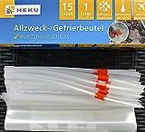 Gefrierbeutel 1l mit Zip-Verschluss 15Stk.