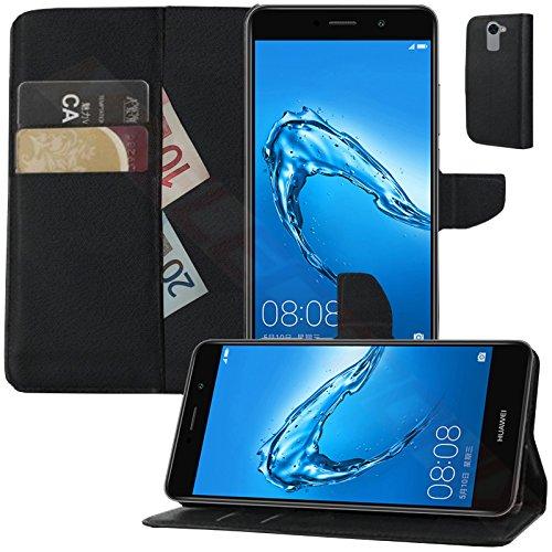 MOELECTRONIX Buch Klapp Tasche Schutz Hülle Wallet Flip Case Etui für Huawei Y7 Dual SIM
