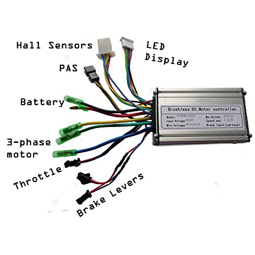 36V 250W Ebike Controller, effet Hall, Normal type de câble