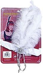 Idea Regalo - Charleston Gatsby Gangster 1920s Hen Party fascia con piume per costume di Carnevale da solo