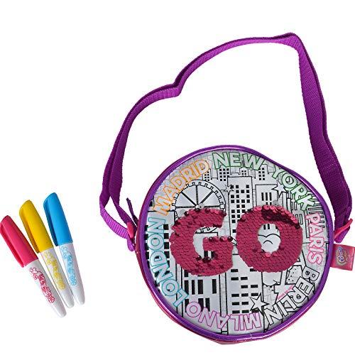#1018 Color Me Mine Handtasche zum Bemalen mit Wendepailletten inklusive Stifte • Bag Tasche Wende Pailletten Umhängetasche