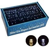 VOLTRONIC® 200 400 600 LED Lichterkette Eisregen, warm-weiss / kalt-weiss, innen und außen, Dekra GS Adapter