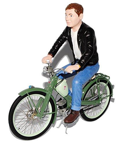 Preisvergleich Produktbild NSU Quickly N Grün mit Figur 1955-1962 1/10 Schuco Modell Motorrad