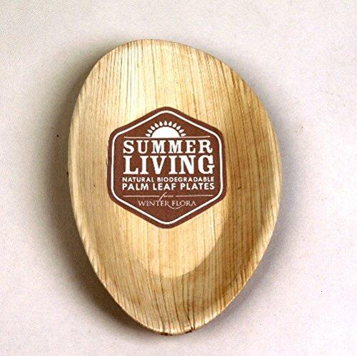Palmenblatt für biologisch abbaubar Picknick-/Teller oval–Lot de 6 (Ovale Palmenblatt)