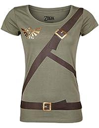 The Legend of Zelda Link Belt T-shirt Femme olive