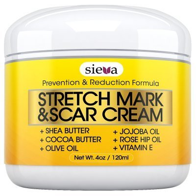Intensive Stretch Mark Cream (Stretch Mark & Scar Removal Cream - #1 Intensive Stretch Mark & Scar Treatment - Get Rid of Stretch Marks From Pregnancy - Works on New and Old Scars and Stretch Marks. 100% Satisfaction Guaranteed! by Sieva)