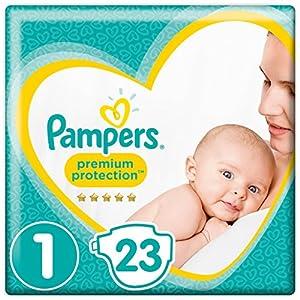 Pampers Premium Protection Größe 1, 2-5kg, 23 Windeln