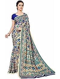Miraan Printed Art Silk Women's Saree With Blouse Piece(OO767)