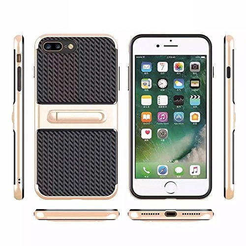 Hülle für iPhone 7 plus , Schutzhülle Für iPhone 7 Plus Trunk Form TPU + ABS Öl Auslauf Handwerk Kombination Schutzhülle mit Halter ,hülle für iPhone 7 plus , case for iphone 7 plus ( Color : Red ) Rose gold