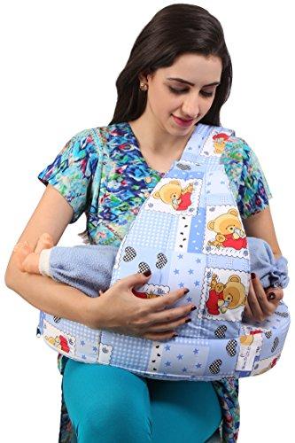 MomToBe Blue Bear Feeding Pillow - HD Foam 100% Cotton Fabric