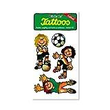 Fussball Franzi Flanke Tattoos von Lutz Mauder // Kinder Kindertattoo Tatoo Tatto Kindergeburtstag Geburtstag Mitgebsel Geschenk