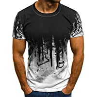 Sport T-Shirt Herren Kanpola Slim Fit Kurzarm Shirt Bluse für Jogging Yoga Männer Tops