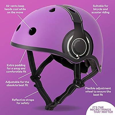 Micro Childrens Helmet: Purple Headphones Medium 53-57Cm Girls Scooting Skating Skatepark Bike Cycling from Micro