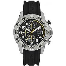 Orologio Nautica NSR104 NAI16510G Al quarzo (batteria) Acciaio Quandrante Nero Cinturino Silicone