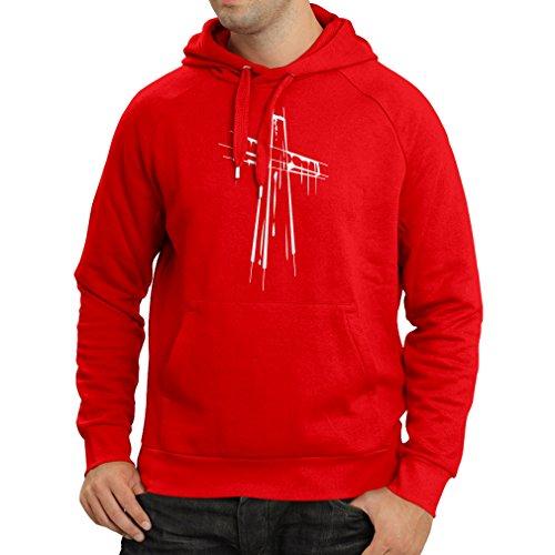 ruhigtes heiliges Kreuz - religiöse Geschenk-Ideen. Christliches Religionskleid, Jesus Resurrection (XX-Large Rot Mehrfarben) ()