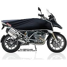 Funda de bicicleta, moto, motociclismo de aventura, funda para viajes (negro/plata)