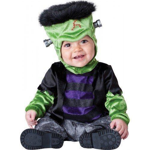 Deluxe Monster, Baby Mädchen/Jungen, Motiv: Halloween-Frankenstein, Buch Tag im Zeichen Kostüm Outfit - Schwarz, 12-18 Months