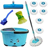 #5: 1 MOP BLUE BUCKET + 1 SOAP DISPENSER WITH 7 REFILL + 1 FLOOR WIPER + 1 SINK CLEANER + 1 LIQUIED DISPENSER ((COLOR MAY VARY AS PER AVAILABILITY))