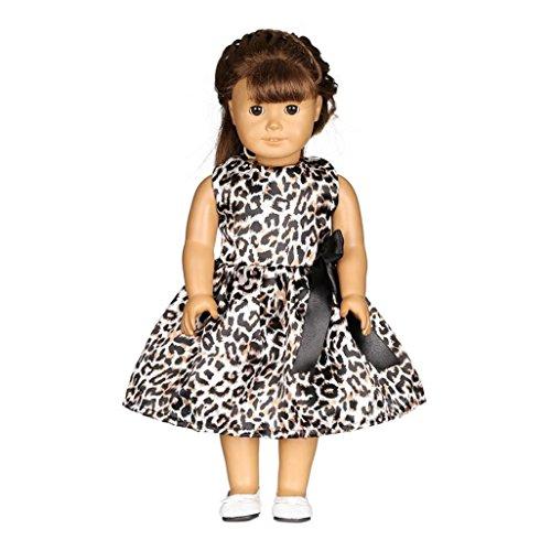 American Puppenkleider 45,7cm für Mädchen, American Girl Puppen Kleidung Kleidung, und Zubehör vneirw, schwarz (American Doll Gymnastik-outfit)