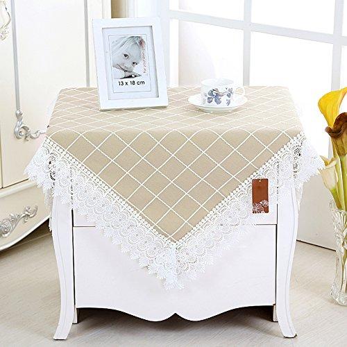 ronde nappe carré nappe frais living room tissu de table chevet -D 80x80cm(31x31inch)