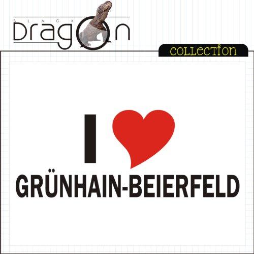T-Shirt mit Städtenamen - i Love Grünhain-Beierfeld - Herren - unisex Weiß