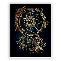 2 x Sun Moon and Stars Dream Catcher Vinyl Sticker #7418