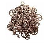 Mackur DIY Crafts Uhr Gears Steampunk Gear Charms Uhrenteile Gears Rollen Anhänger...