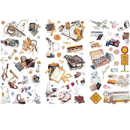 Hosaire 3pcs Scrapbooking Aufkleber Werkzeug Aufkleber Deko DIY Tagebuch Album Label Handwerkskunst Scrapbooking Stickers