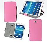 Housse luxe Samsung Galaxy Tab 3 8 pouces SM-T3100/SM-T3110/SM-T3150 16 et 32 Go rose...