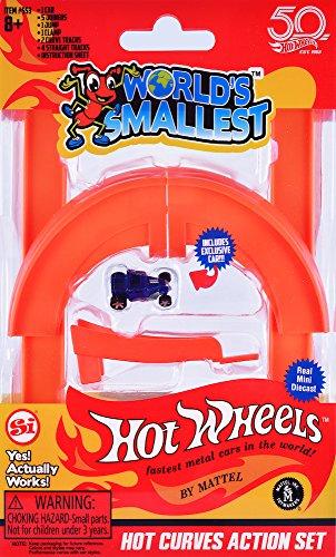 Worlds smallest Super Impulse - Hot Wheels Más Pequeños del Mundo - Hot Curves Action Set - Incluye 1 Auto Exclusivo