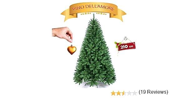Aghi ANTICADUTA FOLTISSIMO GOVITA Albero di Natale Pino Verde Realistico Super FOLTO 210 240 NATURALEALBERO di Natale FOLTO Artificiale Base A Croce in Ferro