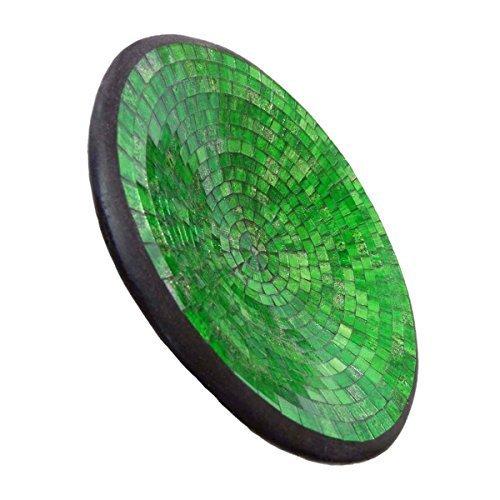 Simandra Mosaikschale Tonschale Glasschale Dekoschale Mosaik Kunsthandwerk Glassteine Deko rund L Color Grün -