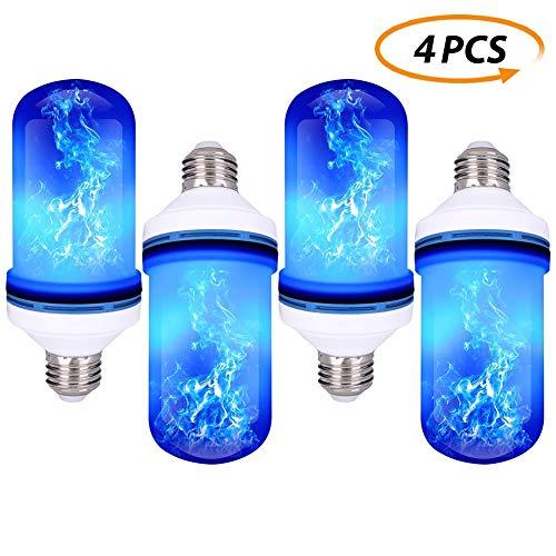 Flicker Flame-dekor (XLQF LED Flamme Lampe E27 / E26 Fire Effect-Birne 85-265V Führte Decoracion Lampara Flickering Emulation-Dekor-Lampe - 4Pack)