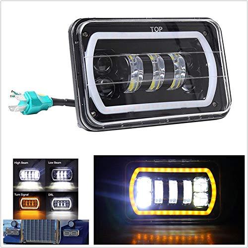 FidgetGear - Riflettore LED Quadrato, 4 x 6, per fari abbaglianti/anabbaglianti, per Auto, Camion, Fuoristrada 4 x 4