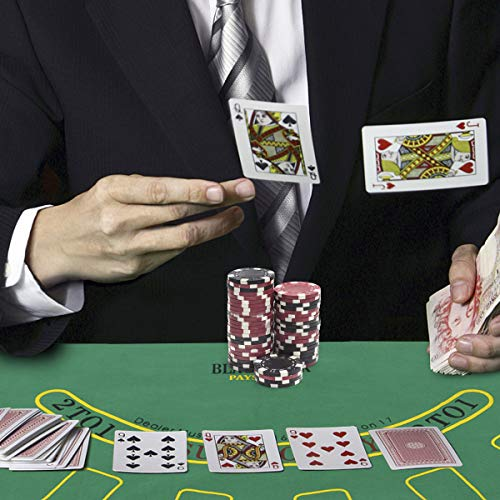 COSTWAY Pokerset mit 500 Laser-Chips | ...