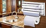 #9: GosFrid 4 In 1 Tissue Paper Holder, Tissue Dispenser For Kitchen, Spice Rack For Kitchen, Kitchen Aluminium Foil Holder