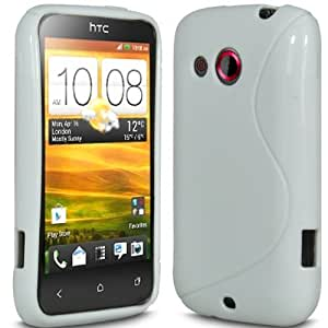 Gadget Giant HTC Desire C - S Line Gel Grip Silicone Case Cover + LCD Screen Protector (Clear & SP & Stylus)