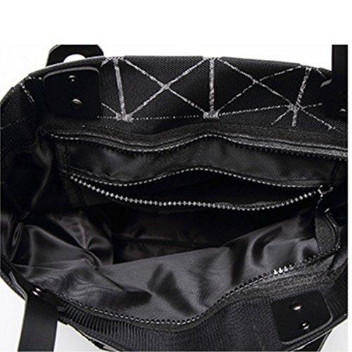 Damen Umhängetasche Neue Handtasche Falten Geometrische Tasche Black