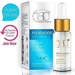 180 Cosmetics - IL MIGLIOR siero di acido ialuronico con vitamina C e peptidi (super forte) - raccomandato dai 40 anni