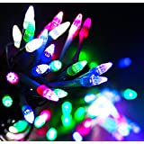 Ascension ® White Rocket Light Decoration Lighting For Diwali Christmas 110 Bulb 22 Meter With Changer Switch Multi Colour