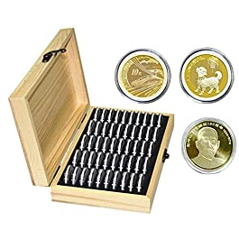 50 Scatole Porta Monete Scatole Porta Monete con Scatola di Legno Scatole di Protezione Monete Scato